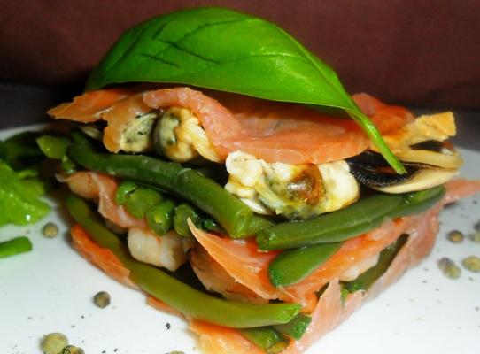 Ricette dietetiche veloci millefoglie di pesce for Ricette veloci pesce