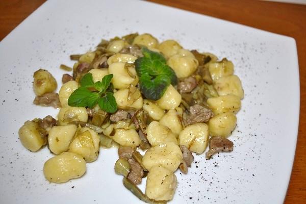 Gnocchi con carciofi - La cucina di Verdiana